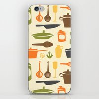 kitchen iPhone & iPod Skins featuring Kitchen by Bellwheel