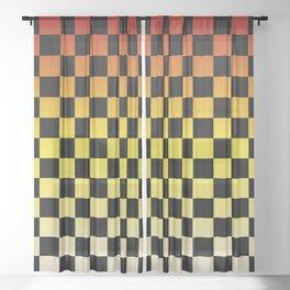 Chessboard Gradient IV Sheer Curtain