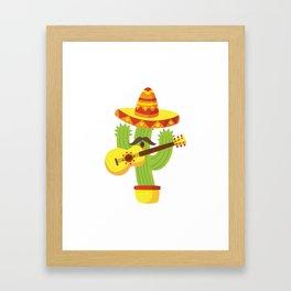 Tequila Fiesta Cinco De Mayo Funny Framed Art Print
