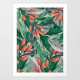 plant pattern Art Print
