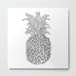 The Pineapple Metal Print