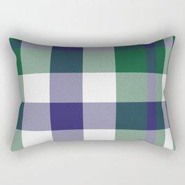 Green Plaid Tartan Checkered Pattern Rectangular Pillow