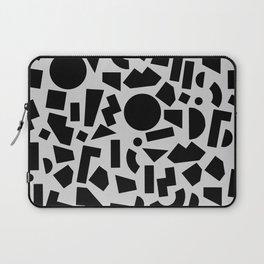 geometric black shapes Laptop Sleeve