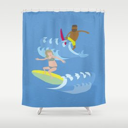 Ride the tide Shower Curtain