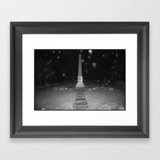 Dramatic Obelisk Framed Art Print