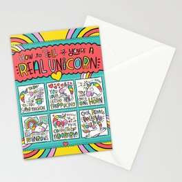 How to Tell if You're a Real Unicorn Stationery Cards