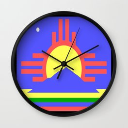 flag of Roswell Wall Clock
