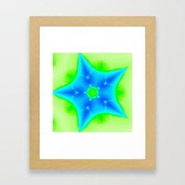 Star Bright Blue & Green Framed Art Print