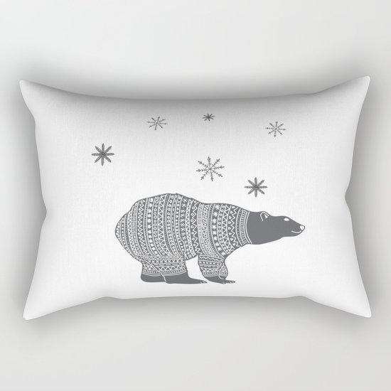 Polar bear - Animal watercolor illustration Rectangular Pillow