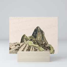 ArtWork Painting Machu Picchu Peru Paint Mini Art Print