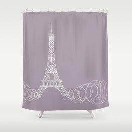 Paris by Friztin Shower Curtain