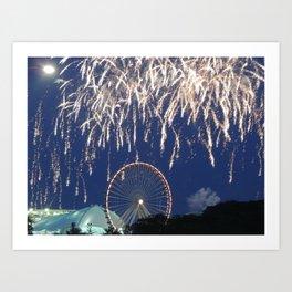 Navy Pier Fireworks Art Print
