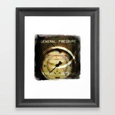 general pressure Framed Art Print