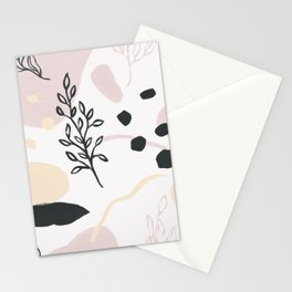 Primavera abstracta Stationery Cards