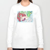 ariel Long Sleeve T-shirts featuring Ariel by Little Lost Forest