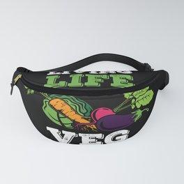 Funny Veganism Gift - Choose Vegan Life Fanny Pack