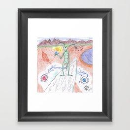 Arid Landing Framed Art Print