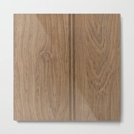 Vintage Wood Panel Metal Print