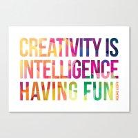 creativity Canvas Prints featuring Creativity  by DesignByDerek