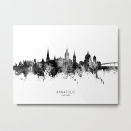 Annapolis Maryland Skyline Metal Print
