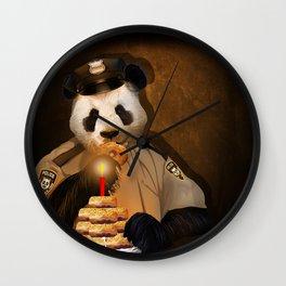 PANDA POLICE iPhone 4 4s 5 5c 6 7, pillow case, mugs and tshirt Wall Clock