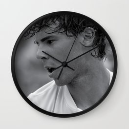 "Rafael ""Rafa"" Nadal "" King of Clay"" court playing tennis at the Miami Open Wall Clock"