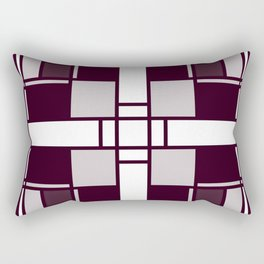 Neoplasticism symmetrical pattern in pinkish gray Rectangular Pillow