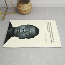 James Baldwin Print  Rug