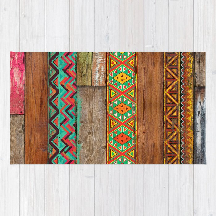 Indian Wood Rug By Maximilian