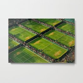 Tennis at Wimbledon Metal Print
