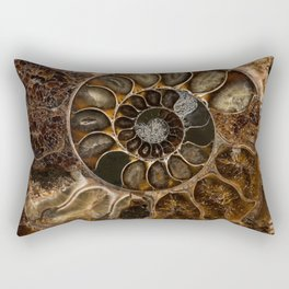 Earth treasures - Fossil in brown tones Rectangular Pillow