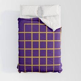 Blue & Gold Matrix Comforters
