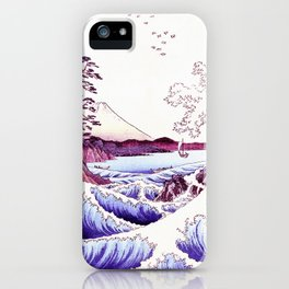 The GREAT Wave : Violet Purple iPhone Case
