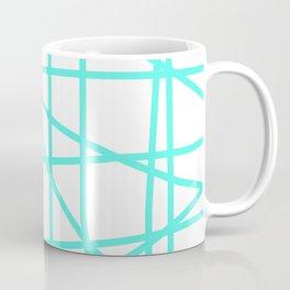 Doodle (Turquoise & White) Coffee Mug