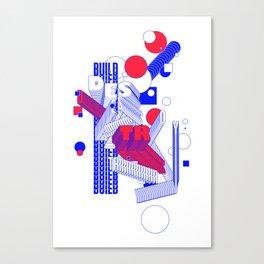 build & destroy Canvas Print