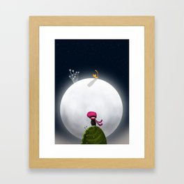 ...And the Moon Framed Art Print