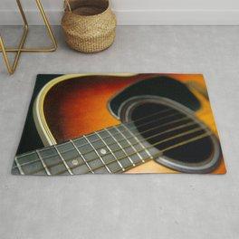 Guitar - Acoustic close up Rug