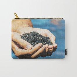 Amazing black pebble beach near Maratea, Basilicata, Italy Carry-All Pouch
