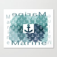 marine Canvas Prints featuring Marine by LoRo  Art & Pictures