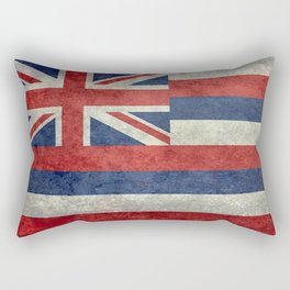 The State flag of Hawaii - Vintage version Rectangular Pillow