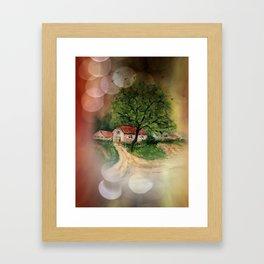 Retro: My little home -2- Framed Art Print