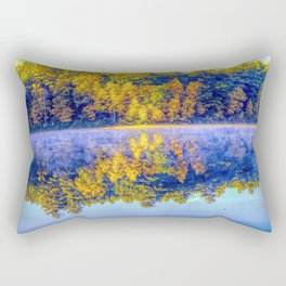 Walden Pond Autumn Time Concord Massachusetts Panorama  Reflection Rectangular Pillow