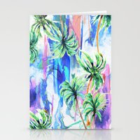 palm trees Stationery Cards featuring Palm trees by Nikkistrange