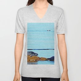 Seal, Pup and Eider Duck Unisex V-Neck