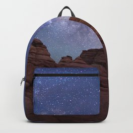 Delicate Arch Under the Starry Sky in Arches National Park Panorama Backpack