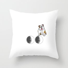 I Love My Bulldog To The Moon And Back Throw Pillow