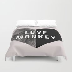 Love Monkey Duvet Cover