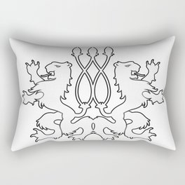 Rampant Lions Series: Version #4 Rectangular Pillow