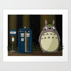 Allons-y Totoro alternate Art Print
