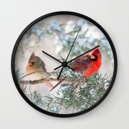 Remembering.... (Northern Cardinals) Wall Clock